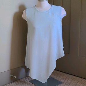 Rachel Roy sleeveless lighr blue blouse. Size L